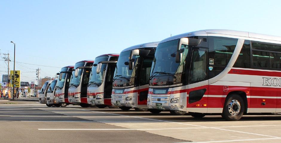 大型バス駐車場完備