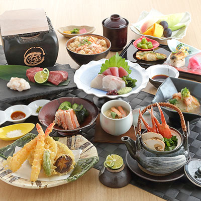 香住蟹と神戸牛の会席